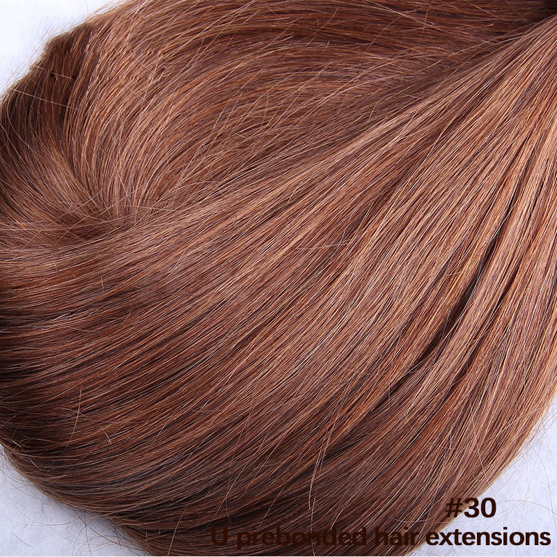 6 - 30 Inch #30 Straight  Nail U Tip Remy Human Hair Extensions 100s 3