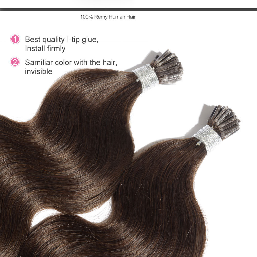 6 30 inch 4 medium brown stick i tip body wave real human hair 6 30 inch 4 medium brown stick i tip body wave real human hair pmusecretfo Image collections