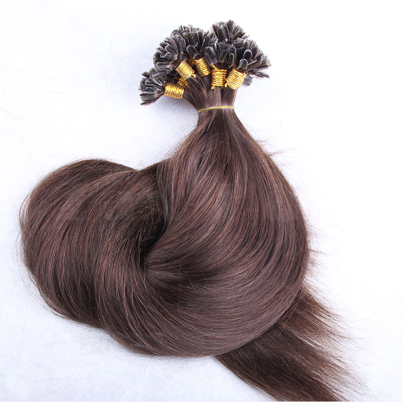 6 34 inch fusion hair extensions human hair i tip extensions u 6 30 inch 4 medium brown straight nail u tip remy human hair extensions pmusecretfo Image collections