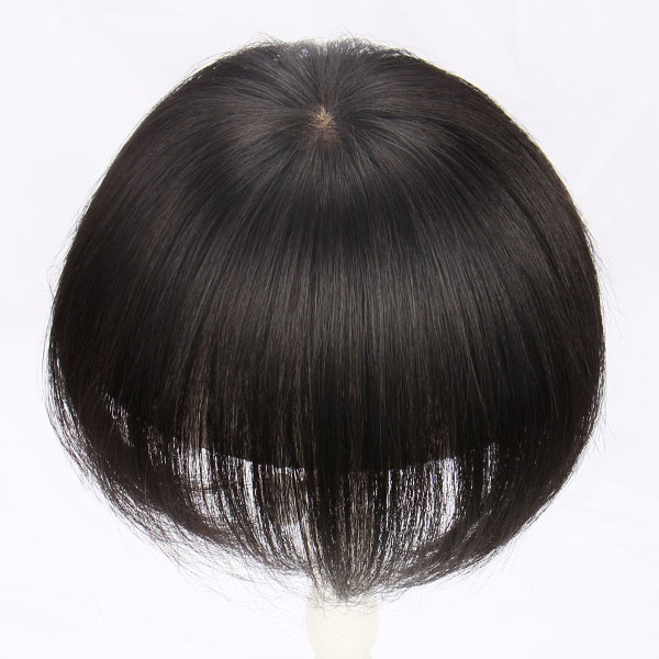 6 Inch Human Hair Topper Clip in Top Crown Hairpieces for Thinning Hair 2