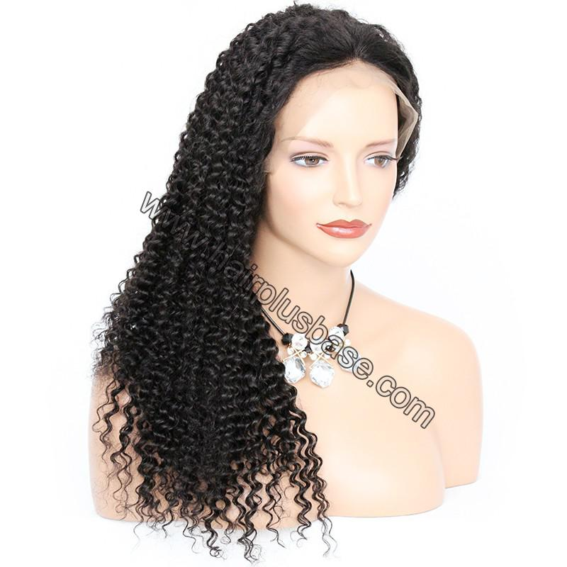 6 Inches Dee Part Pre Plucked Kinky Curly 360 Lace Wigs 150% Density, 100% Indian Remy Hair 360 Wig 0