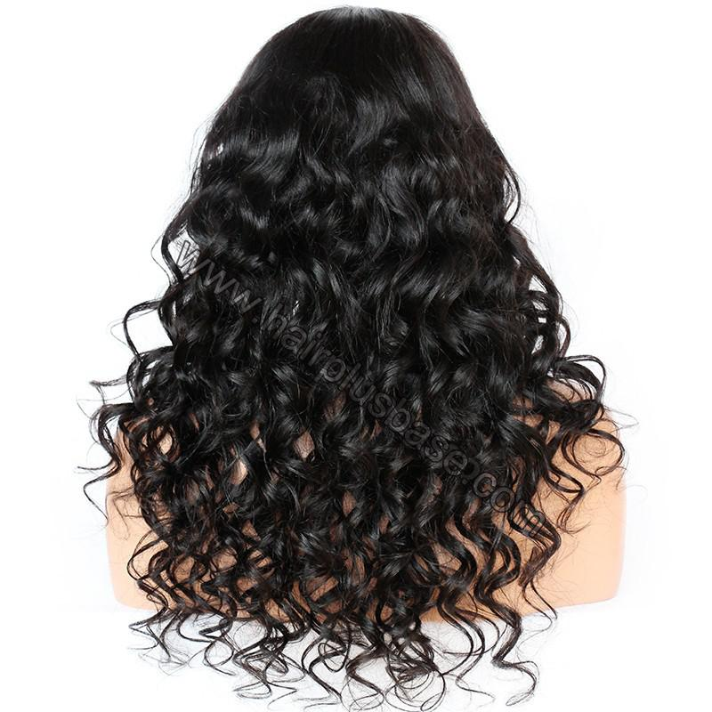 6 Inches Deep Part New Spiral Body Wave Lace Front Wigs Indian Remy Hair, 150% Density, Natural Color 5