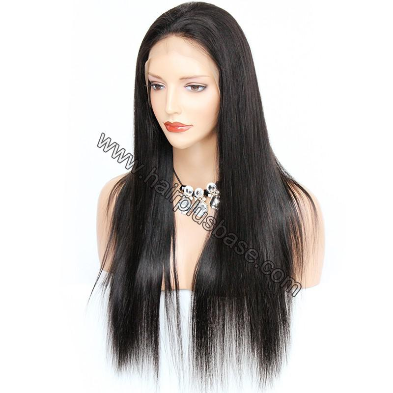 6 Inches Deep Part Pre Plucked Silk Straight 360 Lace Wigs 150% Density Indian Remy Hair 360 Wig