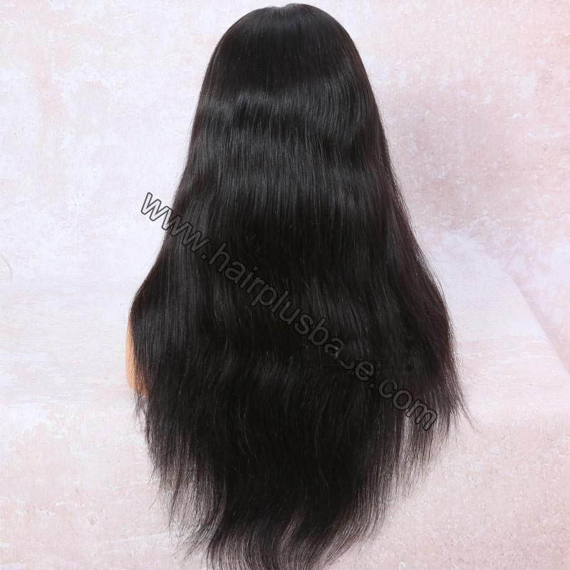 6 Inches Deep Part Silky Straight Lace Front Wigs Indian Remy Hair, 150% Density 3