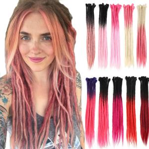 60cm Ombre Dreadlocks Hair Extensions Synthetic Punk Dreads Costume Cosplay Hair