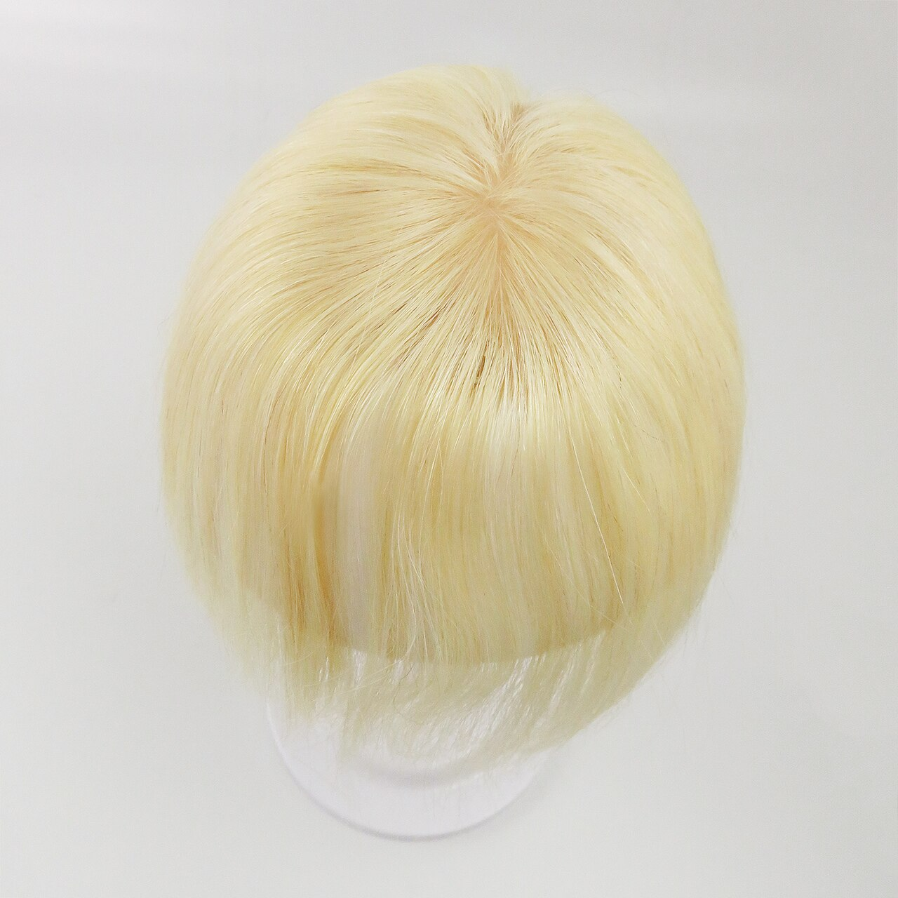 613# Straight Remy Human Hair Topper Hairpiece Clip In Silk Top Toupee Women 2