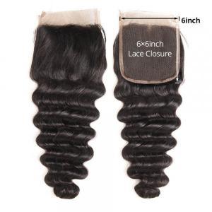 6x6 Inch Loose Deep Wave Hair Swiss Lace Closure Vrigin Human Hair Closure