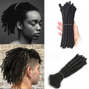 "8"" Short Men's Dreadlocks 100% Human Hair Handmade Jamaican Dread Hair Extension(0.8cm Thickness)"
