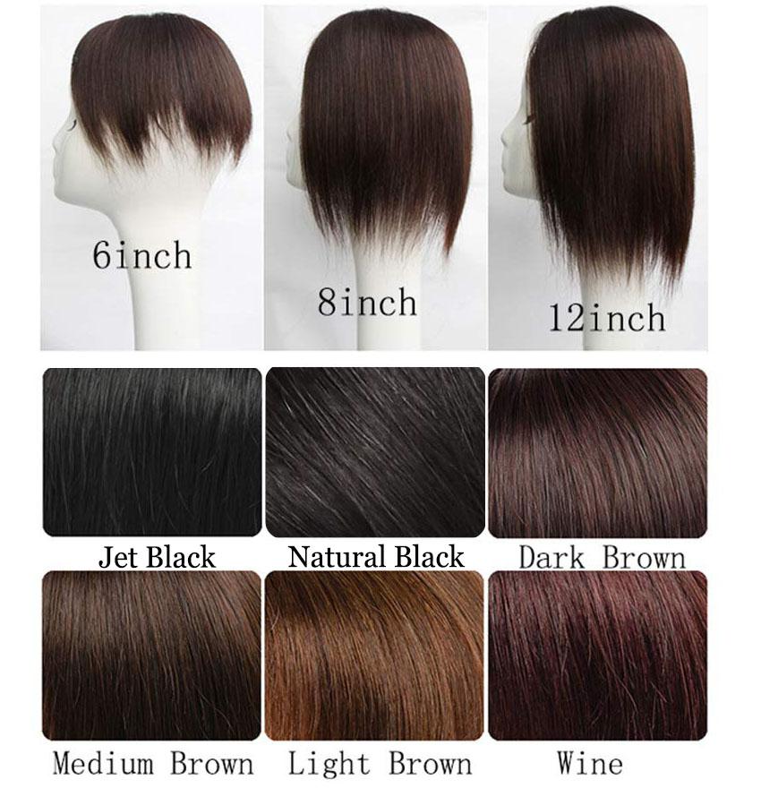 8*12cm Silk Top Natural Curly Hair Toupee 100% Human Hair Top Hairpiece 2