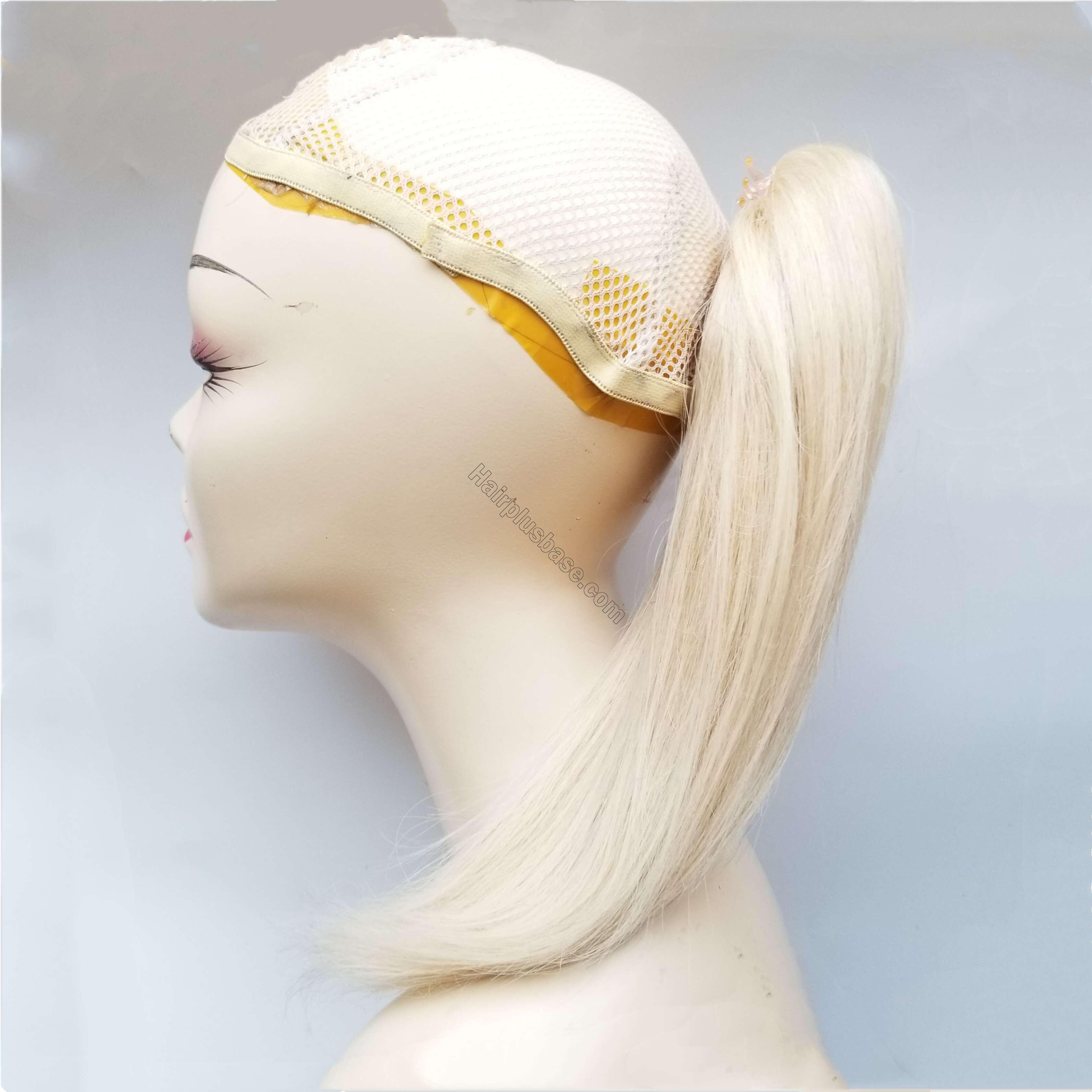 8 - 30 Inch Claw Ponytail Extension Human Hair #613 Bleach Blonde 5
