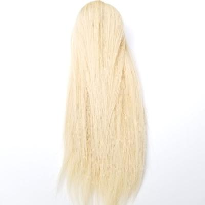 8 - 30 Inch Claw Ponytail Extension Human Hair #613 Bleach Blonde