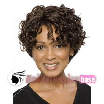 8 inch curly short african american hair wigs 1b natural