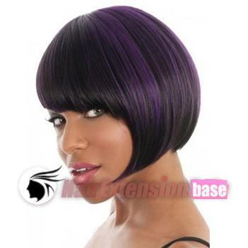 8 inch straight short african american hair wigs purple highlight 8 inch straight short african american hair wigs purple highlight no 1 pmusecretfo Images