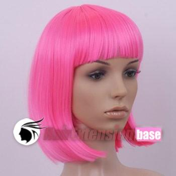 8 Inch Straight Short Synthetic Hair Wigs Pink 3781d727ef92