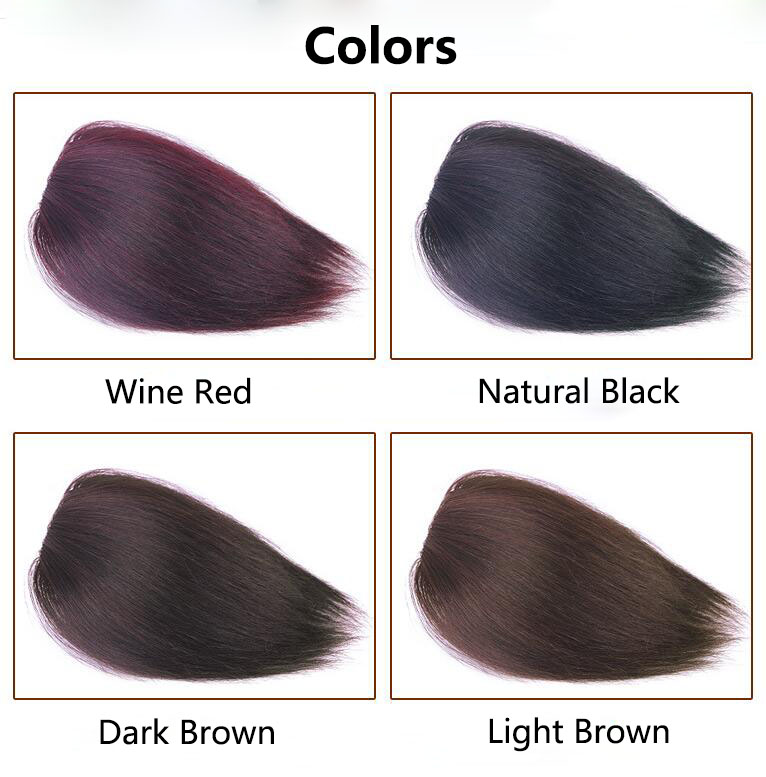 9.5 Inch Straight Human Hair Crown Wiglet Hair Piece for Men Slicked Back Clip in Hair Extensions 6