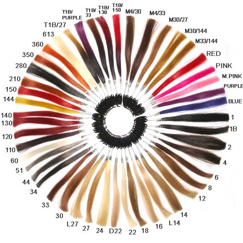 A Color Ring For All Human Hair Extensions