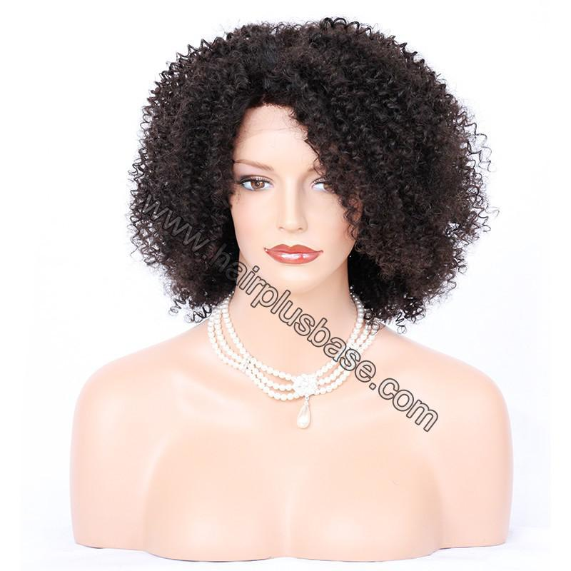 Afro Curly Lace Front Wigs Indian Remy Hair 3