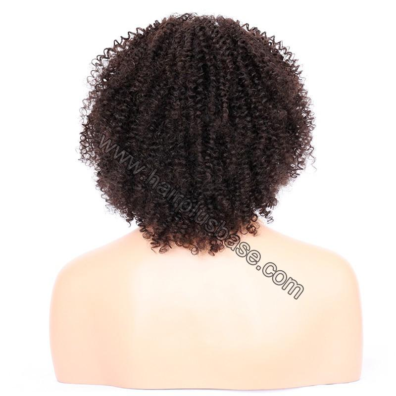 Afro Curly Lace Front Wigs Indian Remy Hair 7