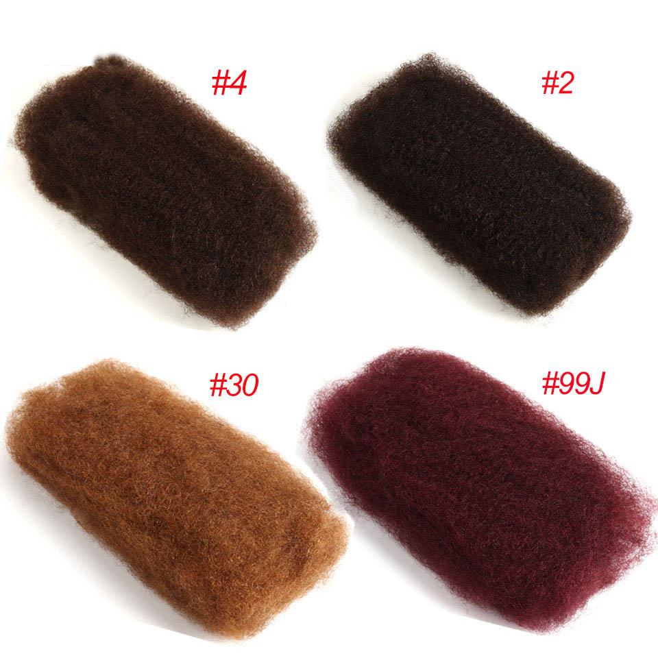Afro Kinky Bulk 100% Remy Human Hair Mongolian 50g Hair Crochet Braiding 3