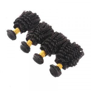 Aunty Funmi Vrgin Hair Weave Afro Kinky Curly 4pcs With 13*4 Lace Frontal Closure