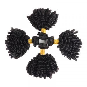 Aunty Funmi Vrgin Hair Weave Afro Kinky Curly 4pcs With 4*4 Lace Closure