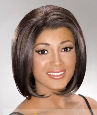 Beautiful Short Straight Brown African American Lace Wigs for Women