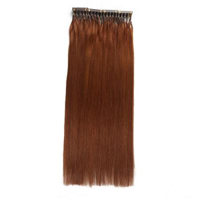 Best 6D Human Hair Extensions Straight 20 Rows 5 Strands/Row