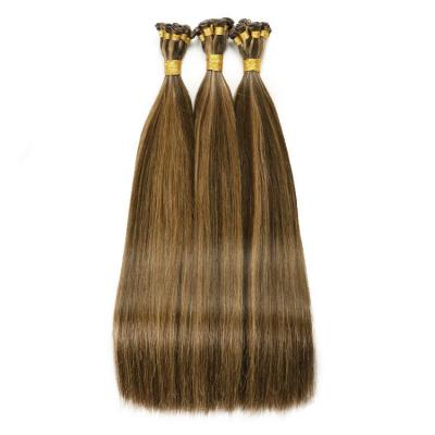 Best Hand Tied Hair Extensions Human Hair Weft Extensions 6 Bundles/Pack #4/27