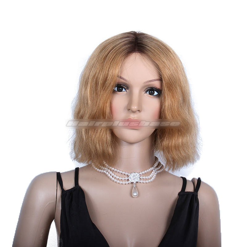 2015 Beyonce New Bob Hairstyle Ombre Blonde Color Lace Front Wigs For Oscars
