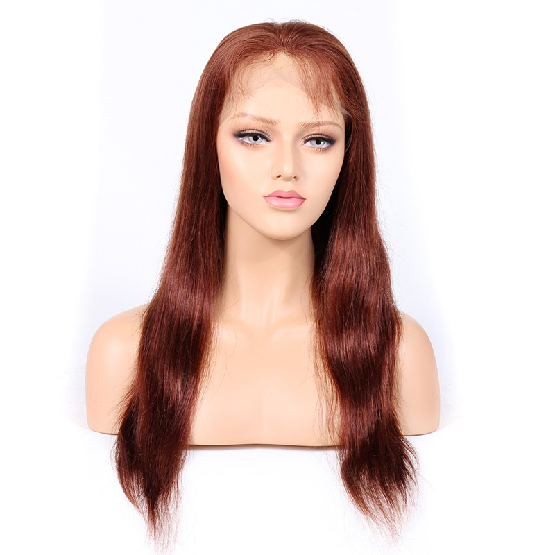 Blonde #33 Color Full Lace Wigs Peruvian Virgin Hair Natural Straight
