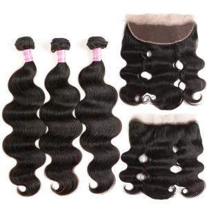 Body Wave 3 Bundles With 13*4 Lace Frontal Virgin Hair Brazilian Hair