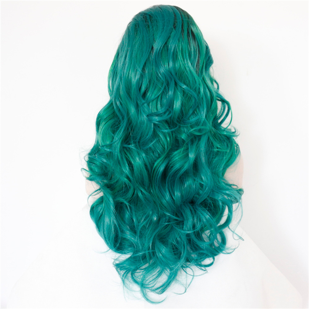 Body Wave Dark Boots Green Ombre Lace Front Wig 1