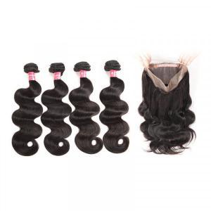 Body Wave Hair 4 Bundles With 360 Lace Frontal Virgin Hair Brazilian Hair