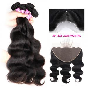Brazilian Body Wave Hair Human Weave With 13x6 Lace Frontal Closure
