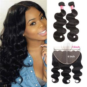 Brazilian Body Wave Weave Hairstyle 13x6 Lace Frontal And Bundles