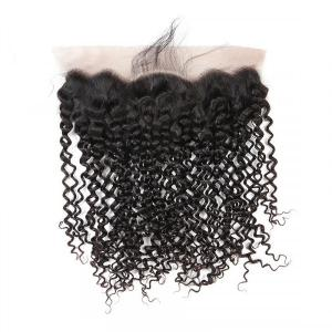 Brazilian Curly Hair Virgin Hair 13x4 Lace Frontal Closure With Baby Hair