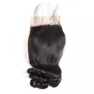 Brazilian Hair Closures Loose Wave Hair Human Hairs For Sale 4*4 Lace Closures