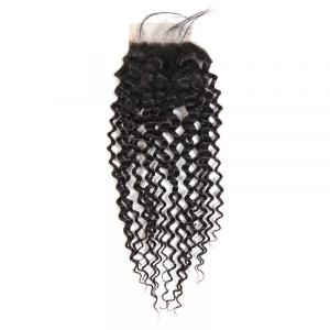 Brazilian Hair Curly Weave Hairstyles Human Virgin Hair 4x4 Lace Closure