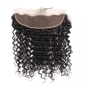 Brazilian Virgin Hair Deep Wave Lace Frontal Closure Cheap Human Hair For Sale