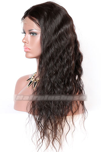 22 Inch Natural Wave Brazilian Virgin Hair Full Lace Wigs