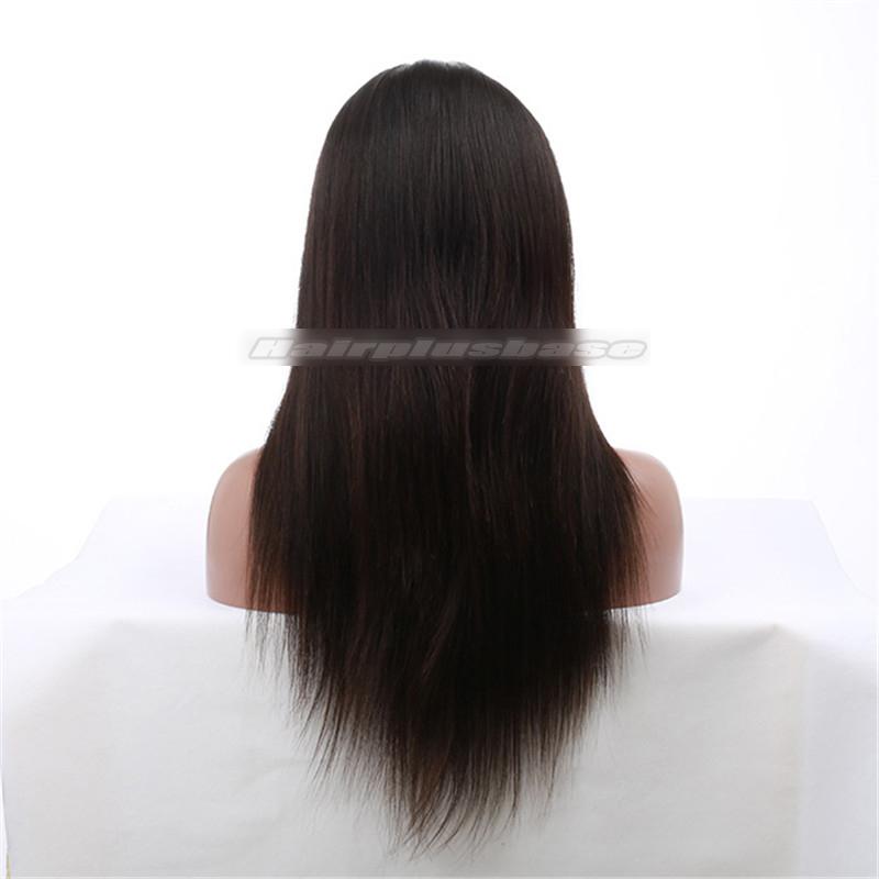 Brazilian Virgin Hair Silk Top Full Lace Wigs Silky Straight