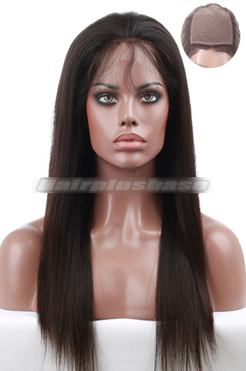 Brazilian Virgin Hair Silk Top Full Lace Wigs Silky Straight