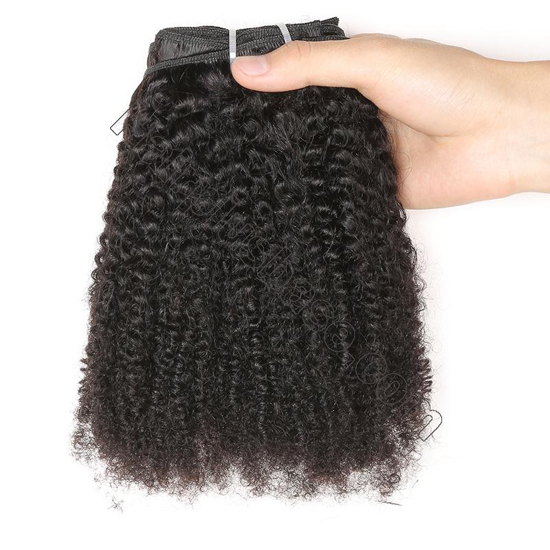 Cheap Afro Kinky Curly Clip In Human Hair Extensions For Black Hair 120g 5