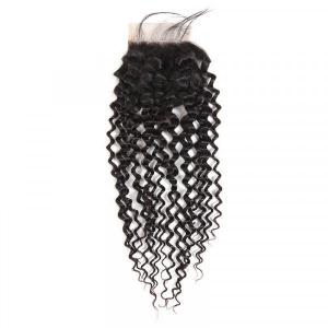 Cheap Peruvian Hair Curly Closures Three Part Middle Part Free Part
