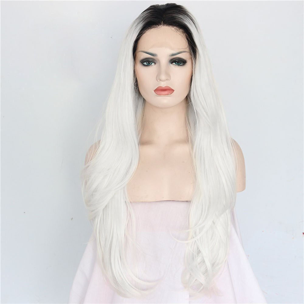 Chic Straight Ombre Synthetic Lace Front Wig