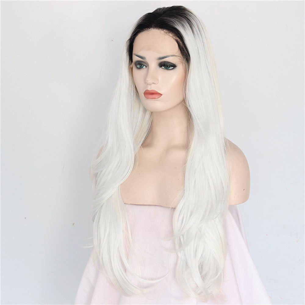 Chic Straight Ombre Synthetic Lace Front Wig 1