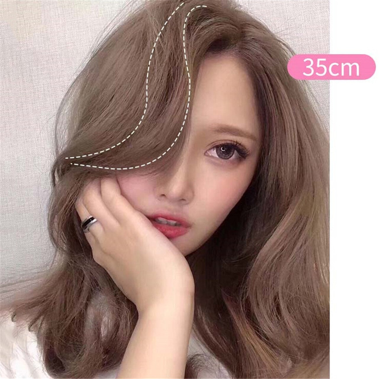 Clip In Air Fringe Long Hair Extension Side Fringe Middle Part Bang Hairpiece 2