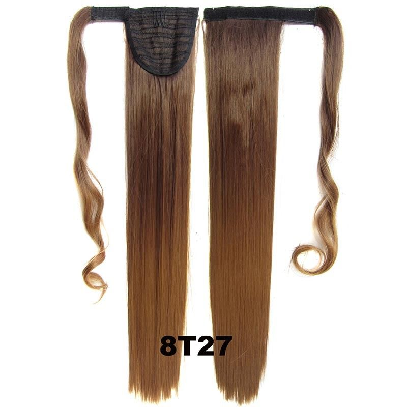 Clip In Dip Dye Ombre Ponytail Hair Extensions Wrap On Hair Piece