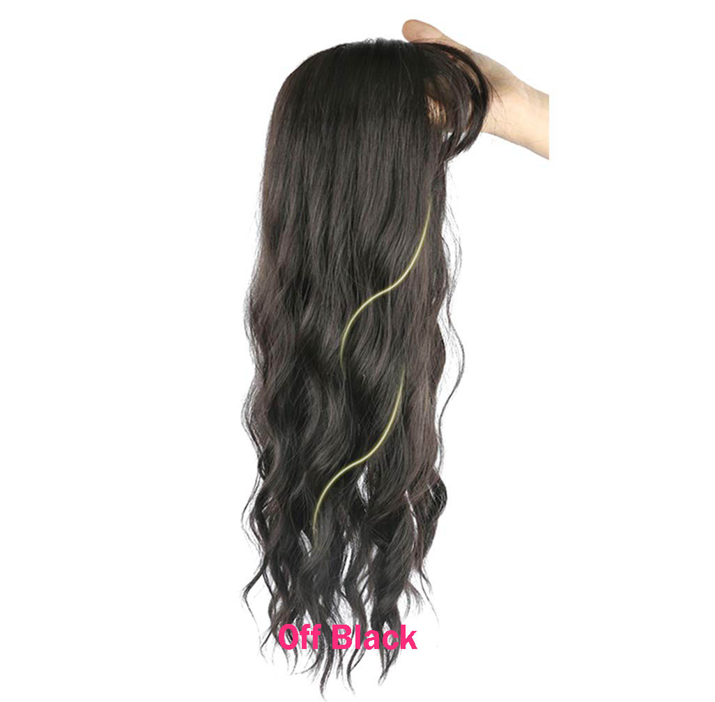 Clip in Hair Topper Hairpieces Body Wavy Synthetic Toppers for Women with Thinning Hair 3