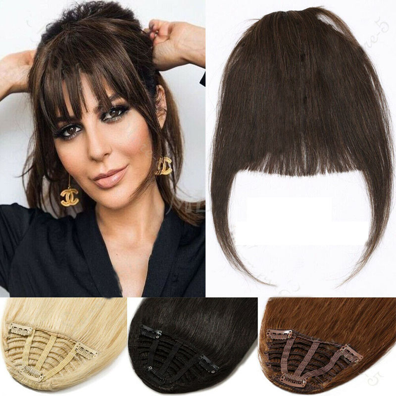 Clip In Human Hair Extensions Neat Bangs Fringe Remy Human Hairpiece 25g Or 50g